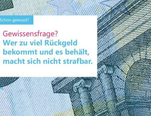 Darf man zuviel herausgegebenes Wechselgeld behalten?